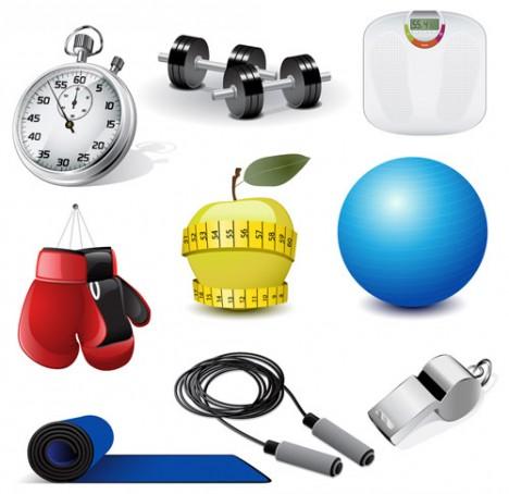 Vectores de Fitness y artículos deportivos