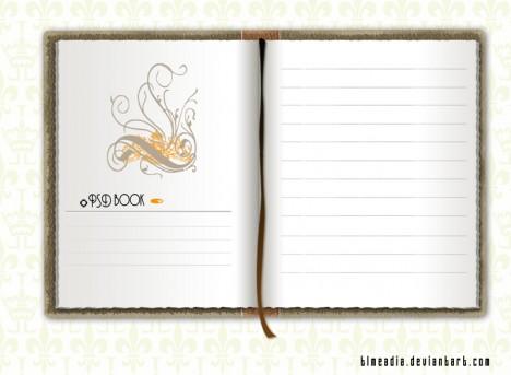 Plantilla de libro PSD para Photoshop