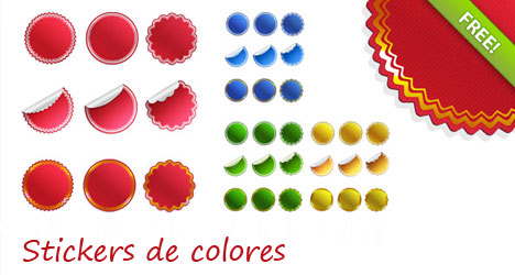 Plantilla de Stickers de colores