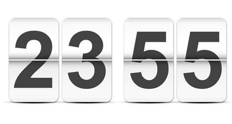 Plantilla de Reloj Digital PSD con Dígitos